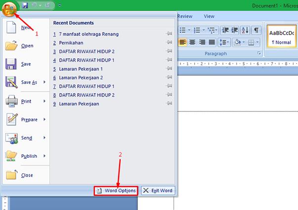 Cara Memunculkan Garis Tepi Margin pada MS Word 2