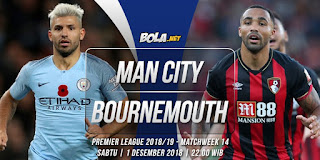 Prediksi Manchester City vs Bournemouth 1 Desember 2018