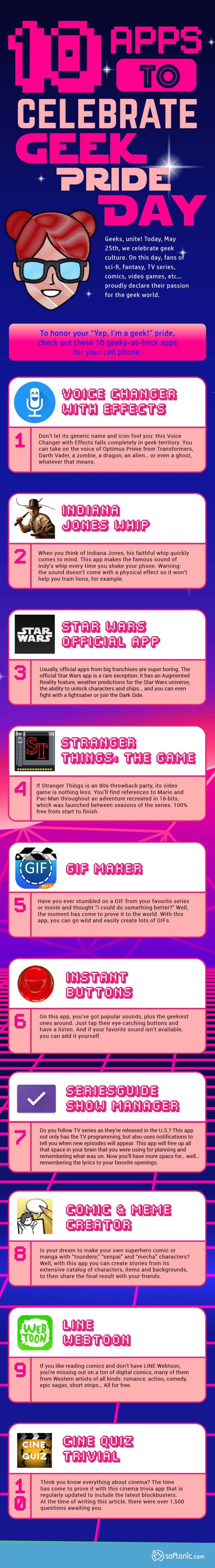 10 apps to celebrate Geek Pride Day