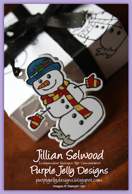 Snowman Gift Tag using the Seasonal Chums bundle