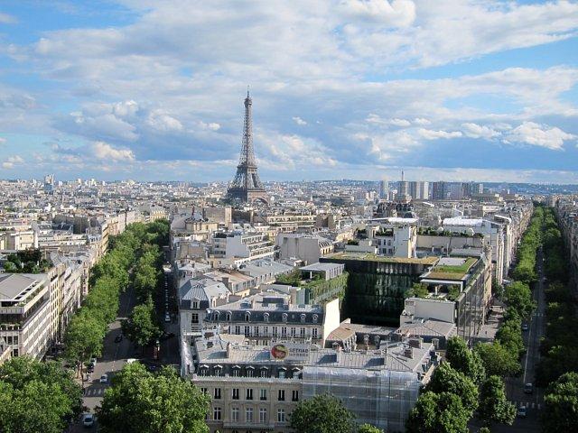 Eiffeltornet från Triumfbågen
