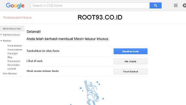 Menambahakan Gooogle Custom Search 3