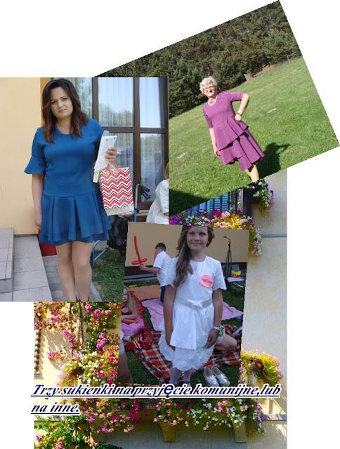 Trzy sukienki wizytowe(własne projekty,jak uszyć?)-komunijne.