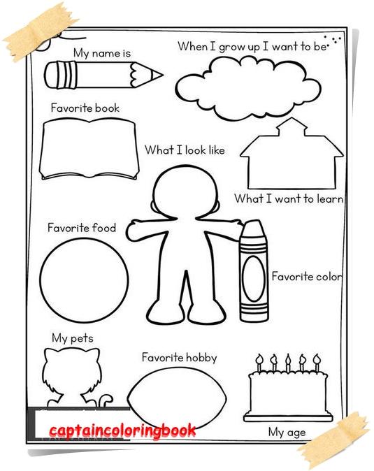back to school preschool worksheets coloring page