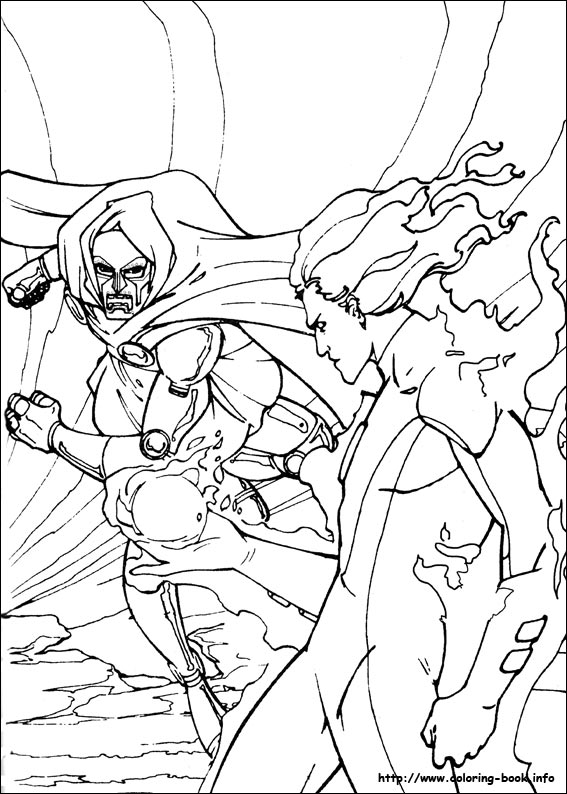 coloring pages fantastic four | coloring fantastic 4 | learn to coloring