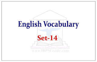 English Vocabulary Set-14 (with meaning and example)
