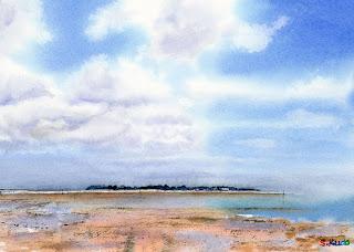 浅瀬 / Shallows 水彩画 Watercolor
