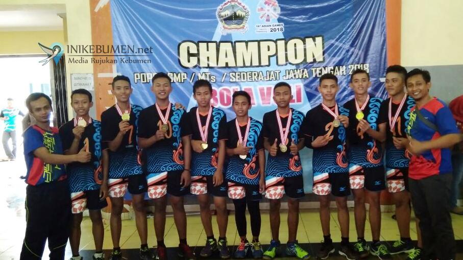 Tim Voli Putra Kebumen Juara I Popda Jateng
