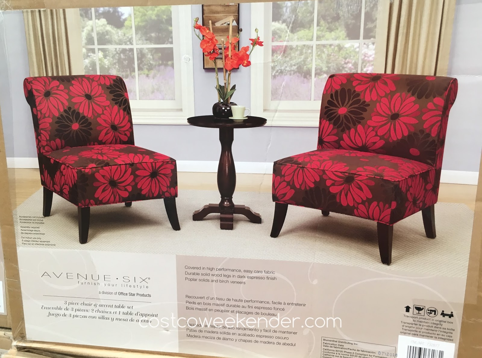 Avenue Six 3 Piece Chair and Accent Table Set | Costco ...