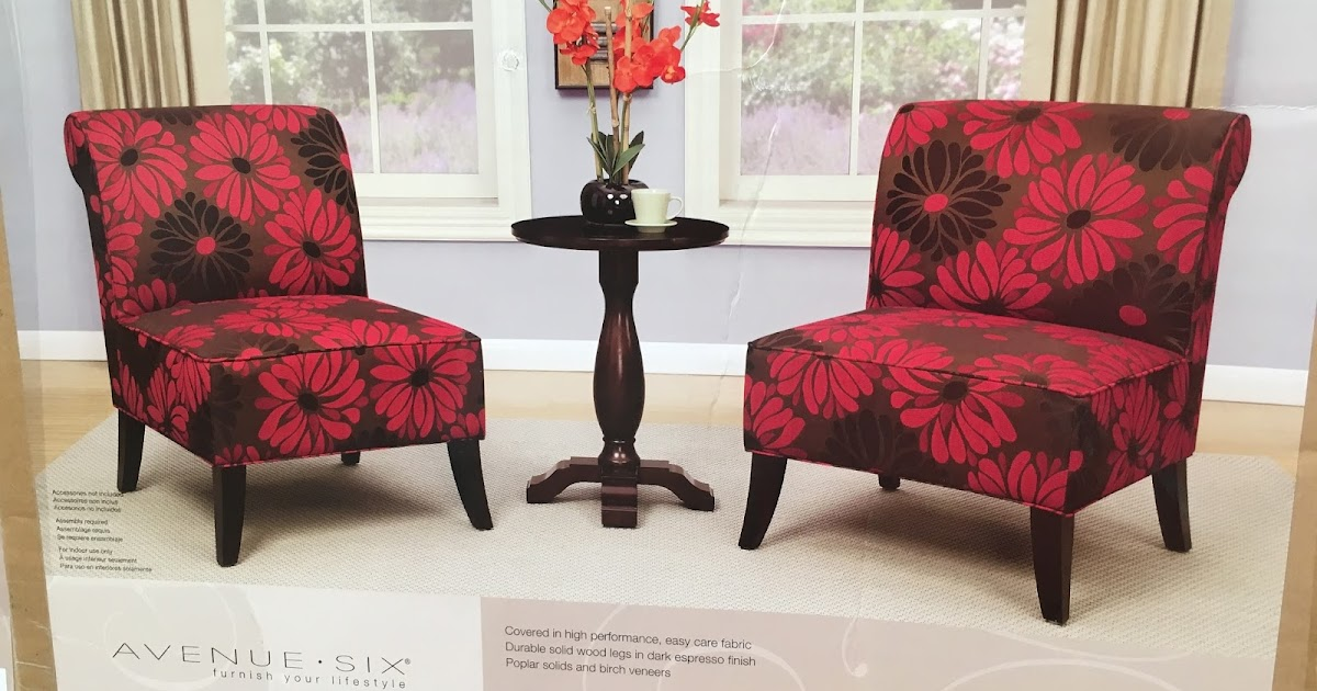 Avenue Six 3 Piece Chair And Accent Table Set Costco