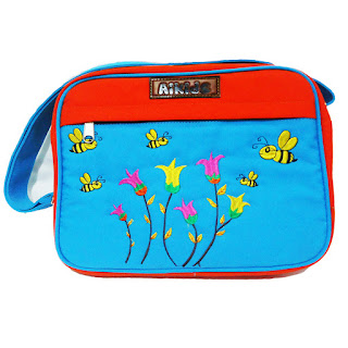 tas selempang anak, tas kanvas, bordir tas komputer, tas selempang lucu