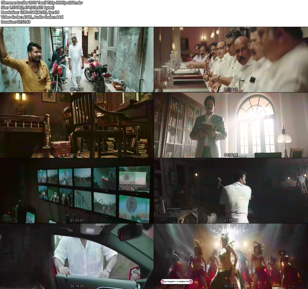 Lucifer 2019 Tamil 720p HDRip x264 | 480p 300MB | 100MB HEVC Screenshot