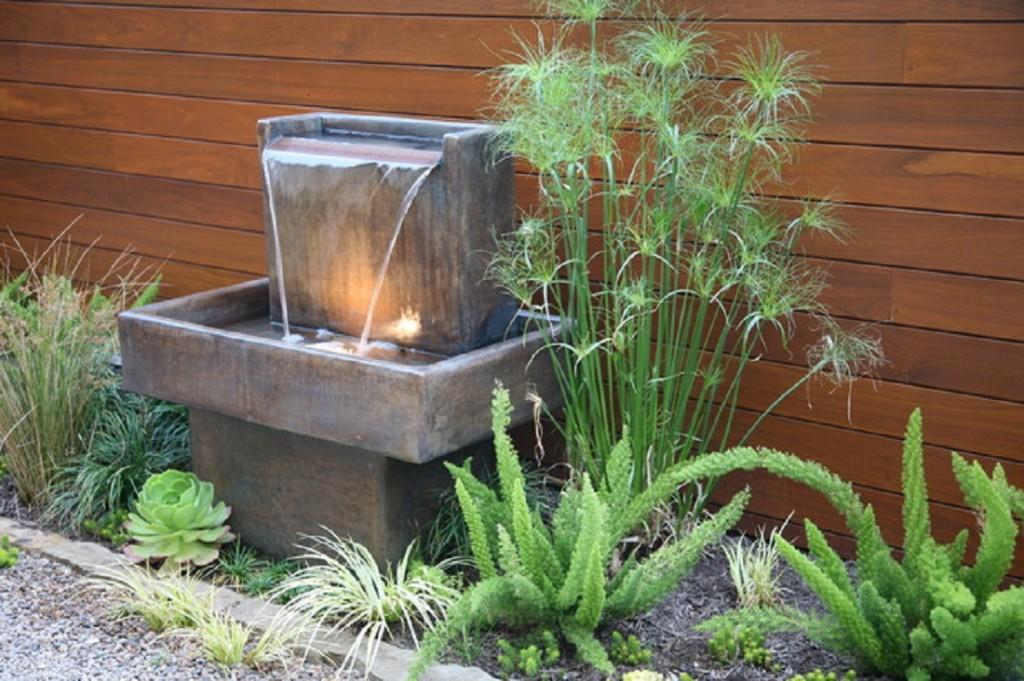 Diy water fountain for unique small garden view decor units - Small garden fountain ideas ...