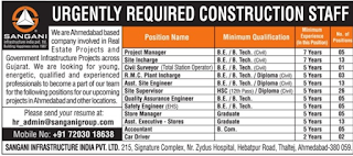 Construction Placements, Construction Job In India