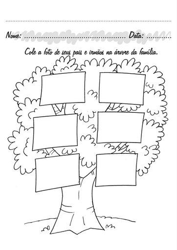 Material educativo para maestros: Árbol Genealógico para colorear