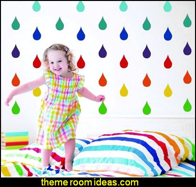 Raindrop Wall Decals - Peel and Stick Wall decals - nursery wall decals Raindrop Wall Decals