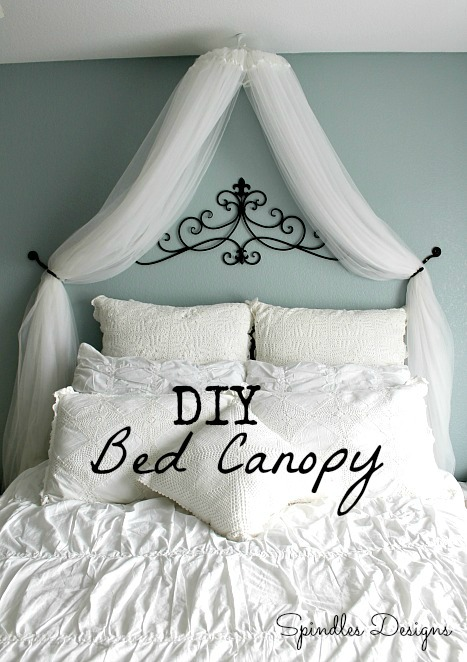 Someday Crafts: DIY Bed Canopy