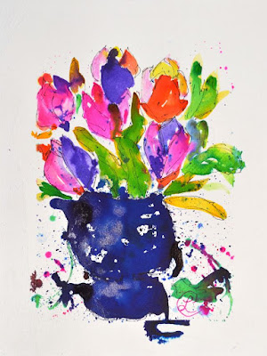 http://www.ebay.com/itm/Tulips-in-Blue-Glass-Floral-Ink-Painting-on-Paper-Contemporary-Artist-2000-Now-/291808071236?ssPageName=STRK:MESE:IT