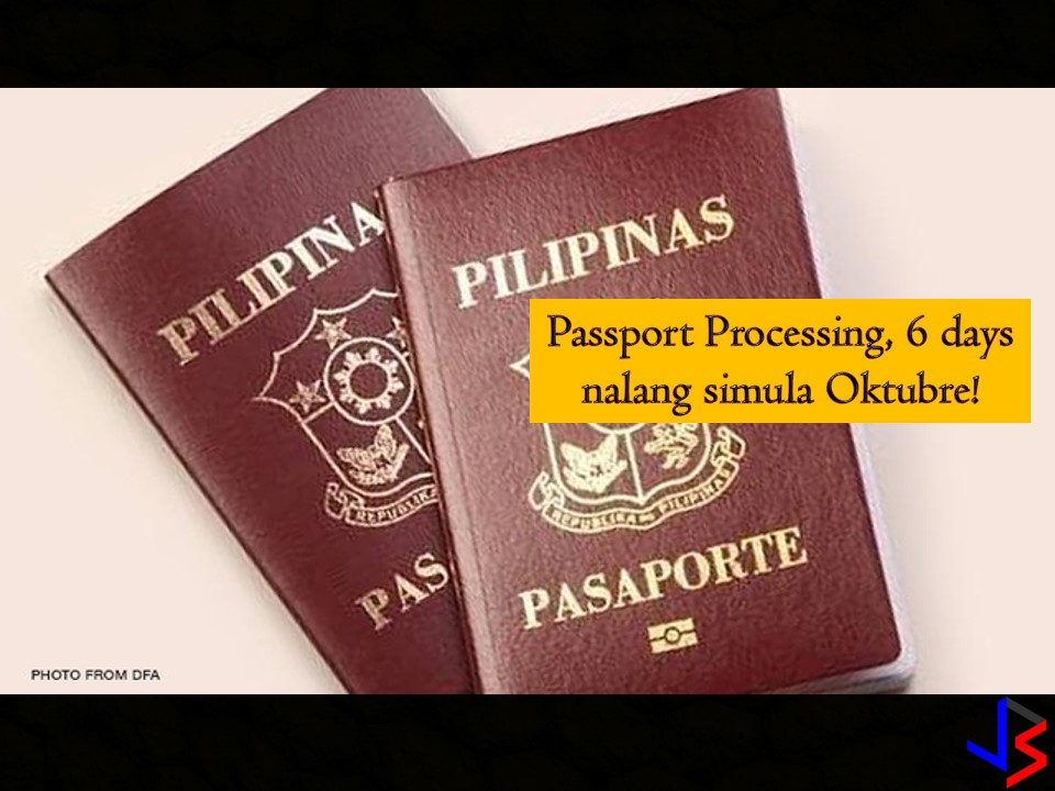 In just six working days, you can now have your passport processed starting October 1, 2018. This is a good news from the Department of Foreign Affairs (DFA). In his statement on the 73rd Session of the United Nation General Assembly, he said, this is one of their promise to President Duterte and to all Filipinos that they will give work hard for providing fast, efficient and secure passport services.   The six working days passport processing will start on Monday, October 1, 2018.  DFA Consular Office — Metro Manila Regular processing fee — P950 for 12 working days instead of 15 working days Express processing fee —P1,200 for six days from seven days  Outside Metro Manila Regular processing fee —P950 for 12 working days instead of 20 Express processing fee —P1,200 for seven days from 10 days Aside from this, the DFA is now working on reducing waiting time for passport applications at Philippine Embassies and Consulates General around the world from the current two months period.  Waiting time for applicants in securing online appointment slots is also shortened within at least two-weeks from two or three months last year.   According to Cayetano, this is the result of reforms that have been implemented since last year. These include the following; E-payment system An opening of at least 10,000 slots at 12 noon and 9 pm, Monday to Saturday except holiday. Increase the capacity for 20,000 passports per day from 9,500  Cayetano assures the public that DFA will continue to work hard to further improve the delivery of passport services as the center of DFA's work.