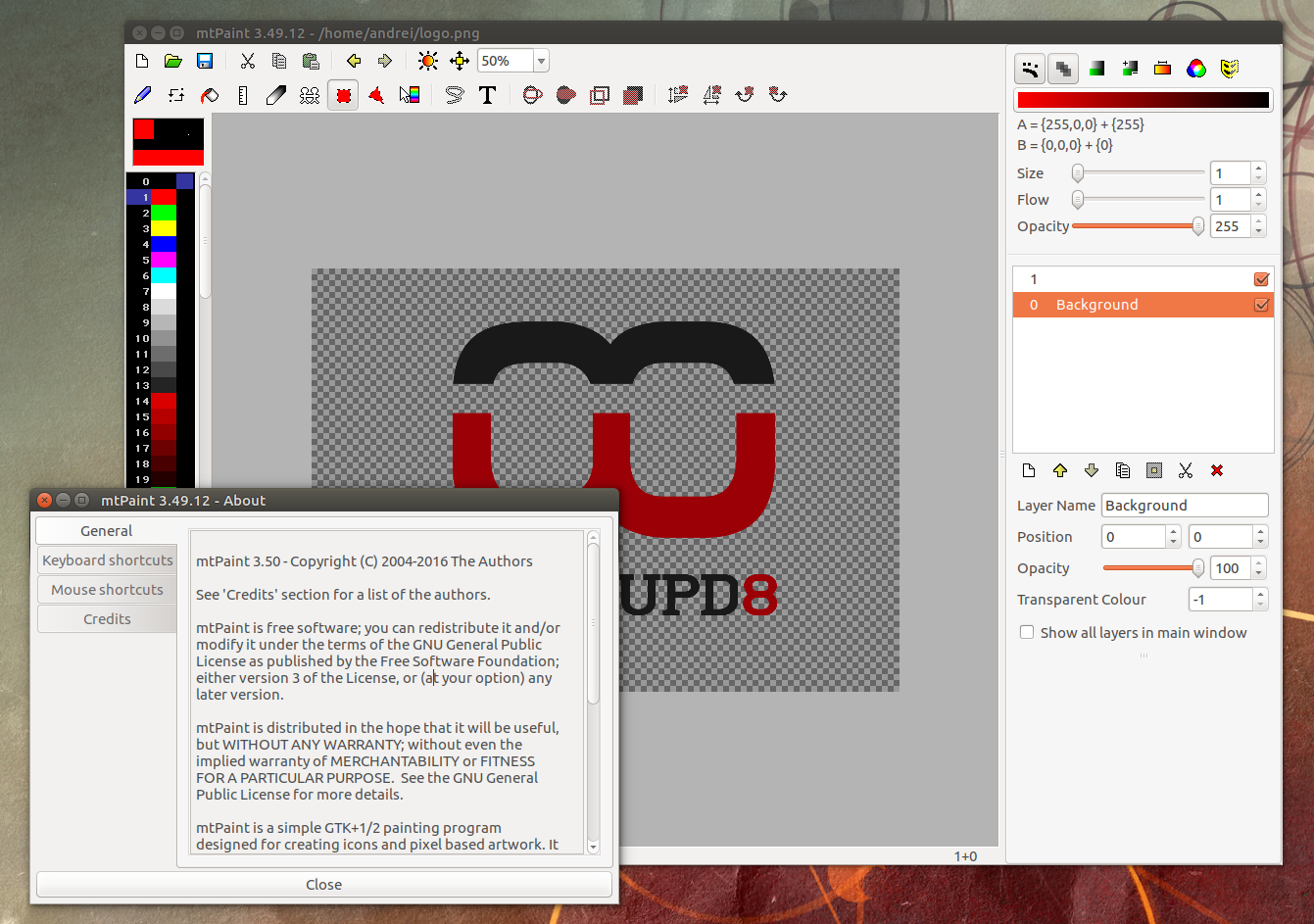 Lightweight Paint Software Mtpaint 3 50 Dev Available In Ppa For Ubuntu Or Linux Mint Web Upd8 Ubuntu Linux Blog