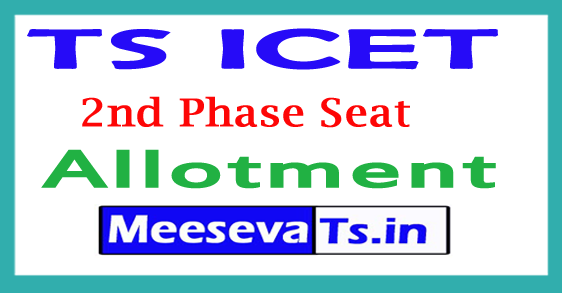 TS ICET 2nd Phase Seat Allotment 2018
