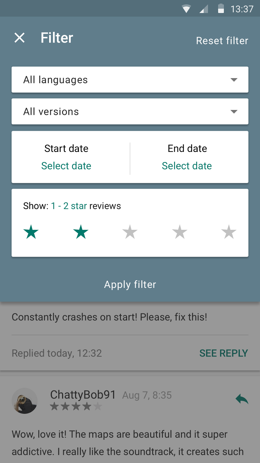 Android Developers Blog: New features for reviews and