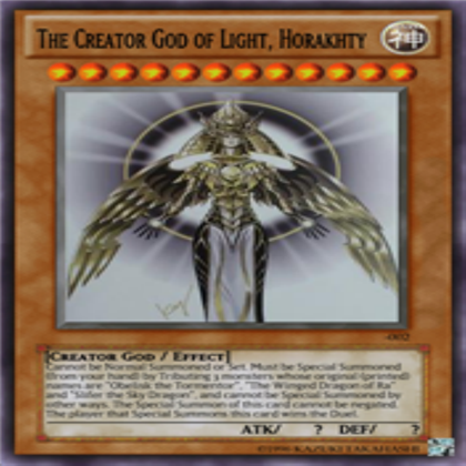 Yu Gi Oh! The Creator God Of Light Horakhty Summon YouTube - the creator god of light horakhty