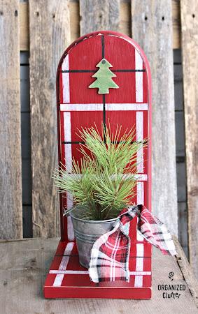 Thrift Shop Paper Towel Holder Christmas Repurpose