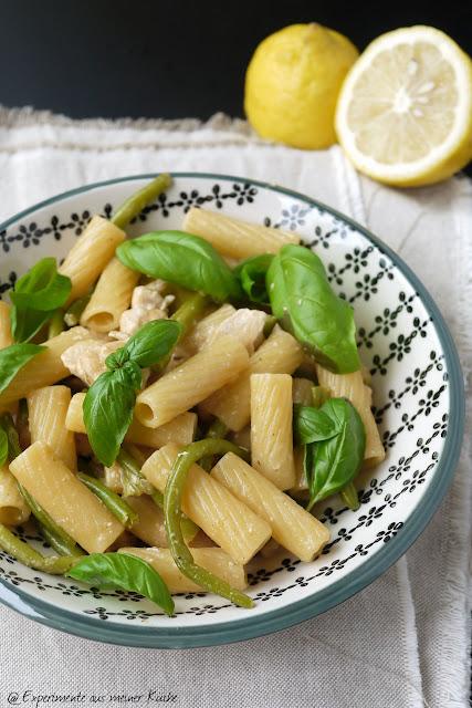 Experimente aus meiner Küche: Tortiglioni mit Bohnen und Hähnchen