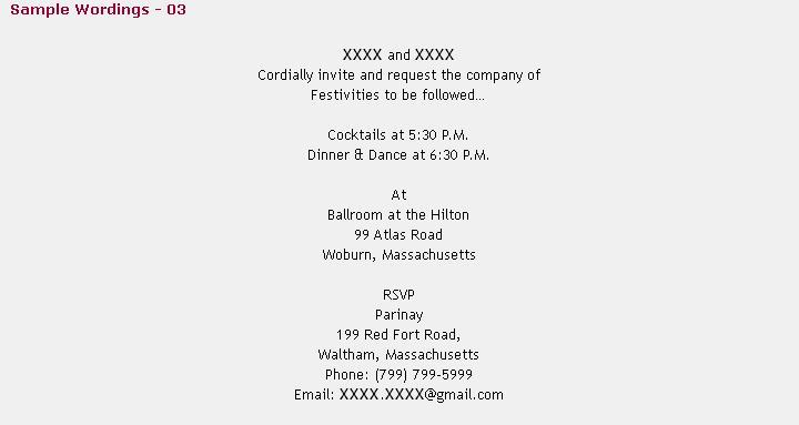 123weddingcards Hindu Wedding Cocktail Party Invitation Wordings - invitation for cocktail party