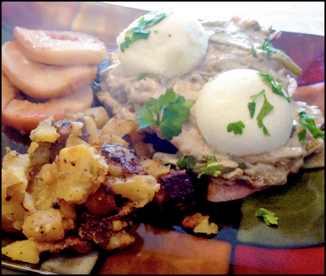 This trial menu item for St Francis Cottage, Savory Green Bean Benedict, was a big hit.