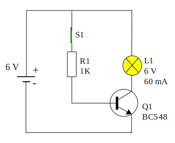 switch transistor on condition