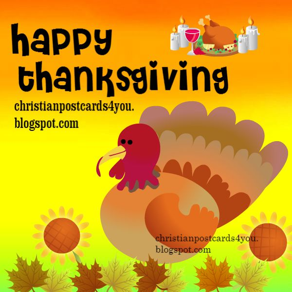 happy thanksgiving, free image for facebook friends and family november 2014