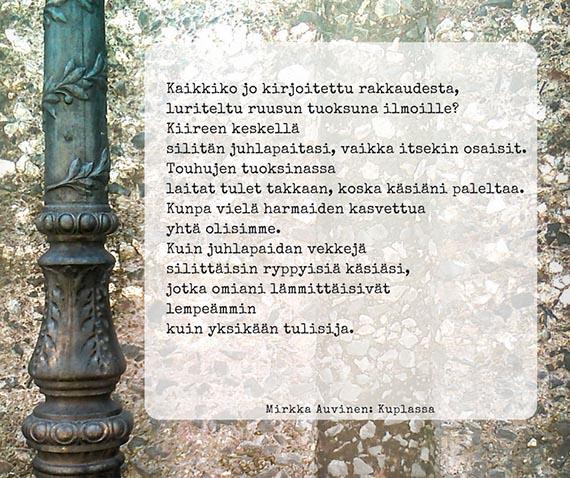 Mirkka Auvinen: Kaikkiko jo kirjoitettu rakkaudesta