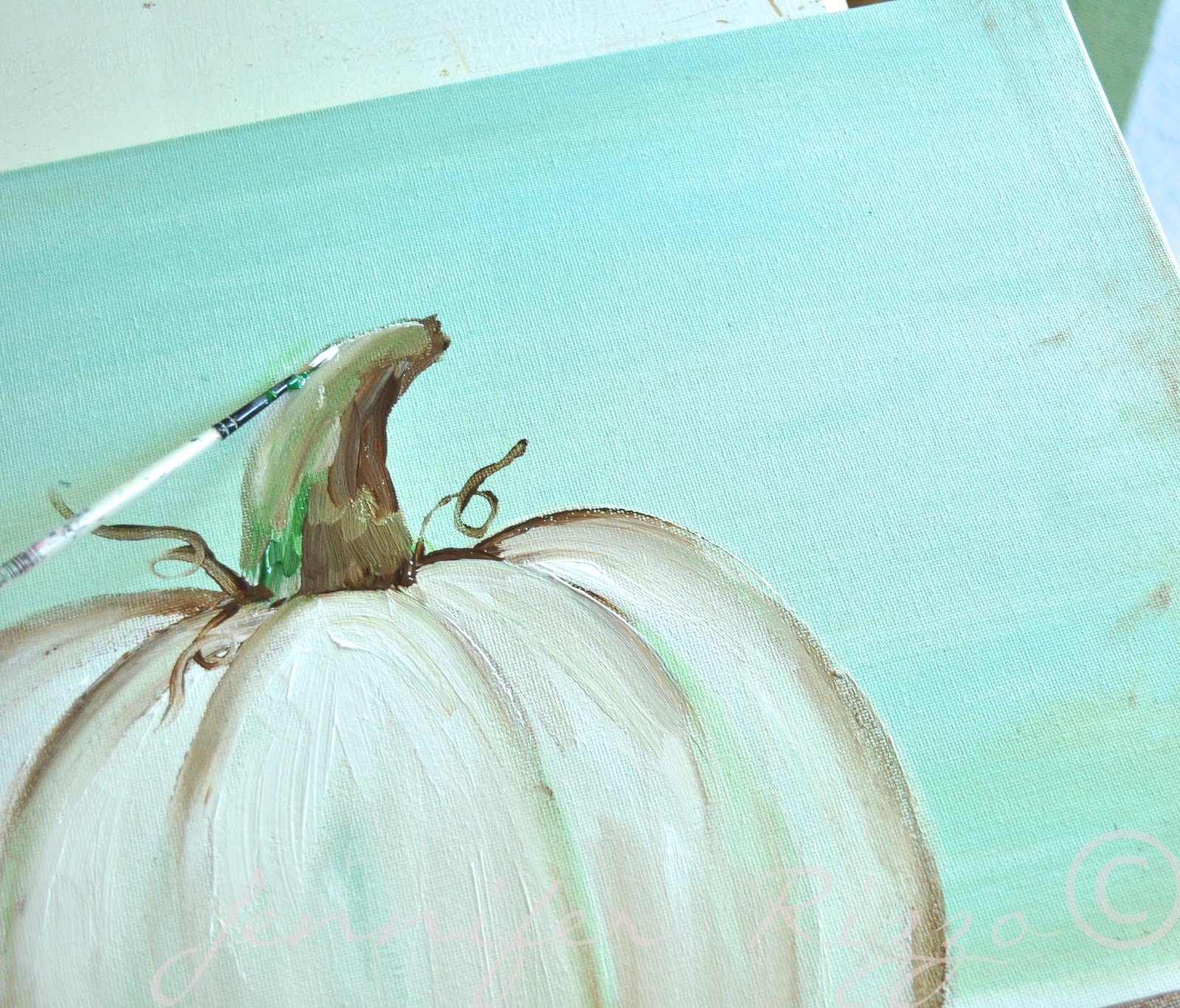 You Can Paint A Pumpkin Canvas Art Skills Not Required