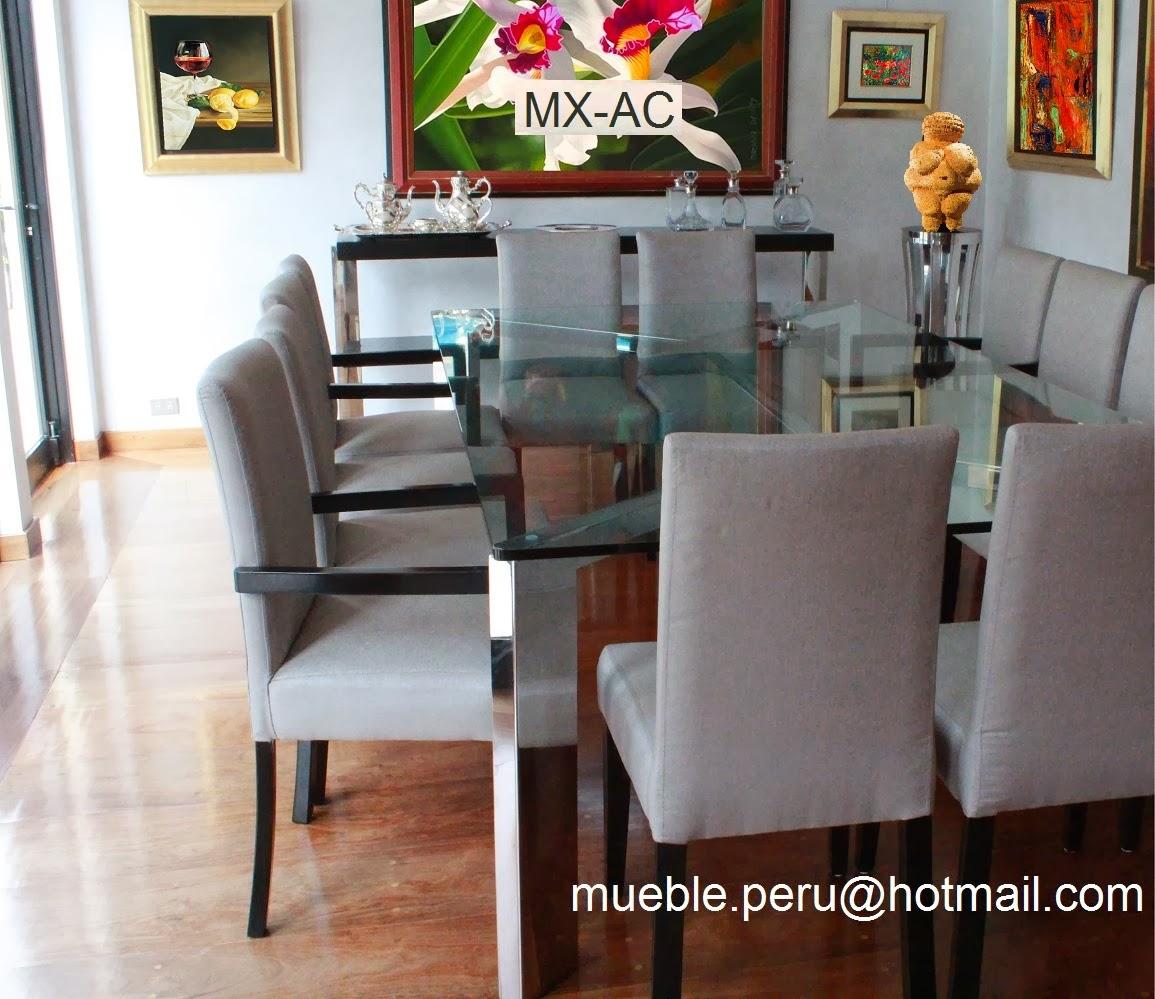 Muebles pegaso modernos comedores de acero for Mesas para comedores pequea os