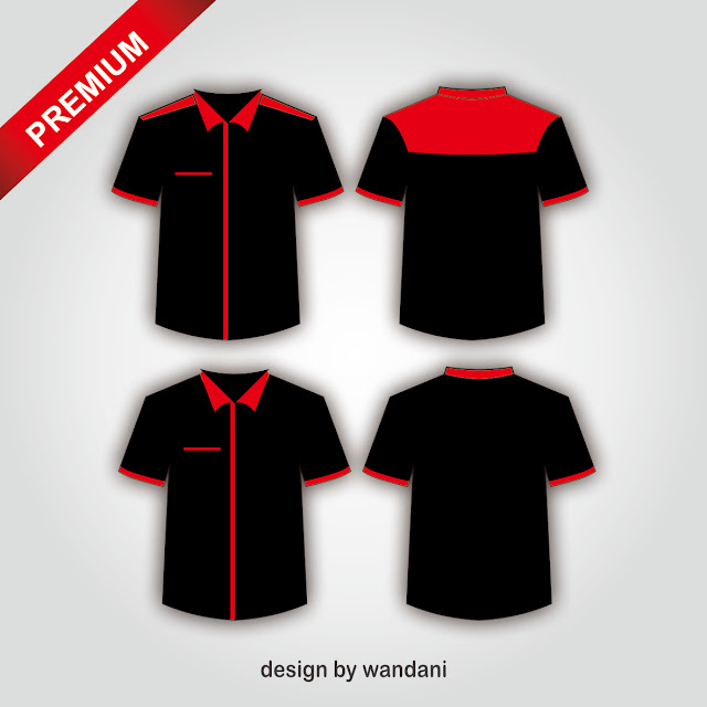 T-Shirt Design, Template T-shirt, Kemeja, Desain Baju, Hitam, Merah, Red, Black,