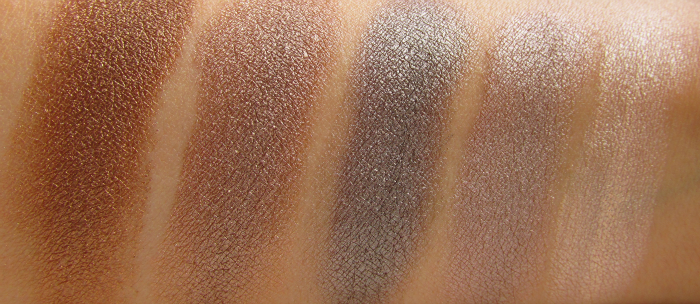 Swatches 3. Reihe: Makeup Revolution - I Heart Makeup - Death by Chocolate Eyeshadow Palette