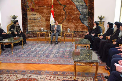 Sisi and the Egyptian Orthodox Church delegation