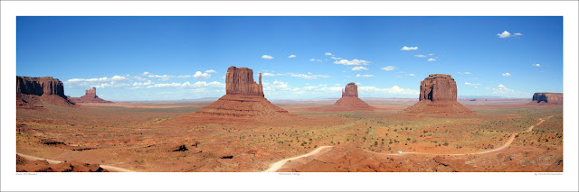 Monument Valley Arizona wide panoramic photo prints for sale, M Zimmermann wikipedia Owen Art Studios Panoramas