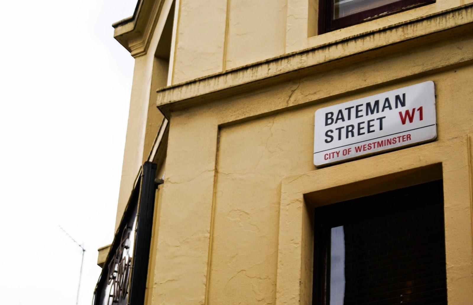 bateman street soho london uk england britain
