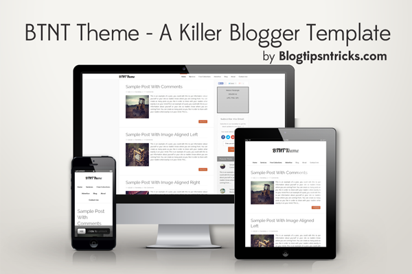 BTNT Responsive Blogger Theme Demo