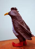 Papier à êtres : Oiseau brun, Exposition « d'Inspiration Jérôme Bosch », Galerie de la Marraine