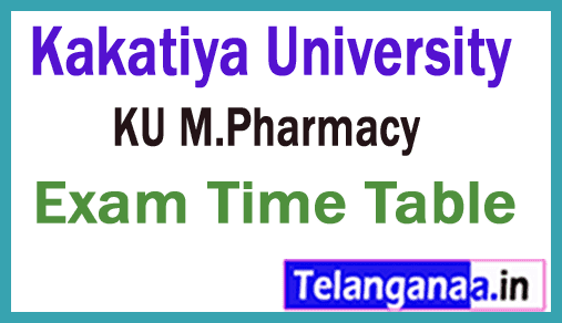 KU M.Pharmacy Exam Time Table Download