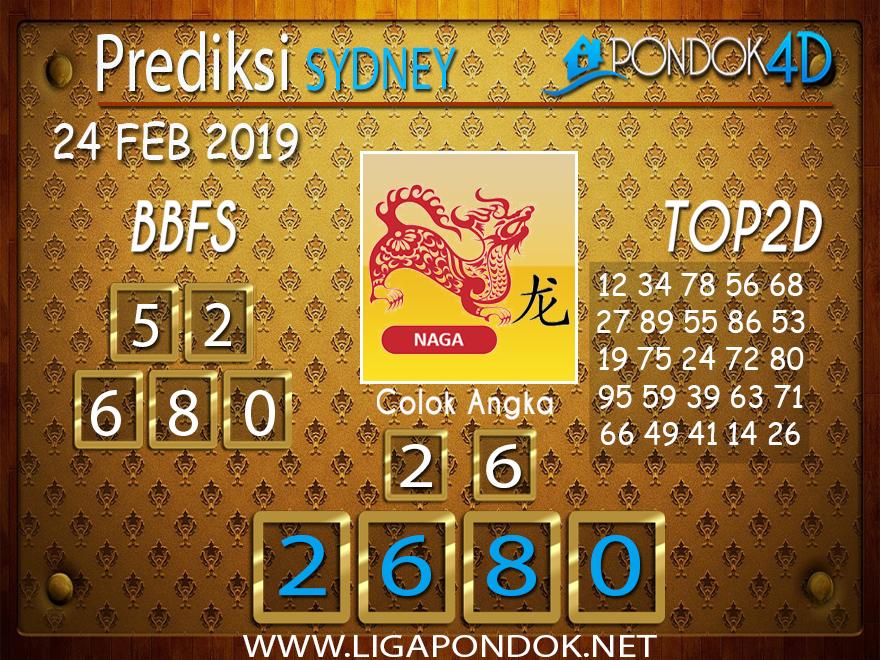 Prediksi Togel SYDNEY PONDOK4D 24 FEBRUARI 2019