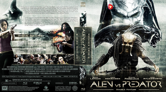 Capa Bluray Alien VS Predator Double Feature