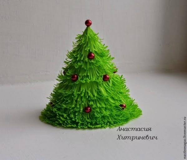 C mo hacer un arbolito de navidad con fomi - Crear adornos de navidad ...