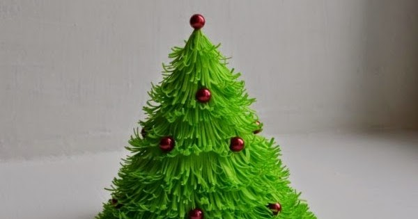 C mo hacer un arbolito de navidad con fomi - Adornos de navidad con cartulina ...