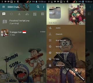 BBM Mod Doraemon GTA v3.2.3.11 Apk Terbaru
