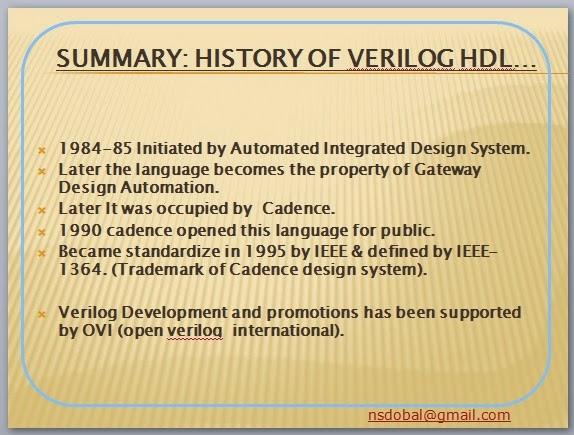 Summary : A Brief History about Verilog HDL - ~ Verilog Programming